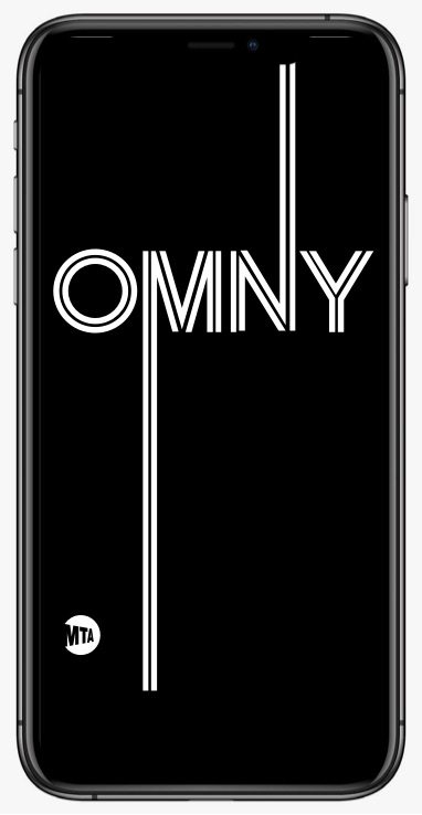 image of phone with OMNY app